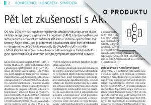 E-reprint: Pět let zkušeností s ARNI v ČR (sympozium Novartis, XXIX. sjezd ČKS), Medical Tribune č.11