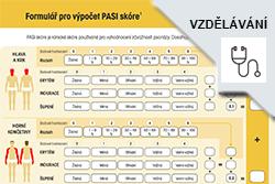 Formulář pro výpočet PASI skóre